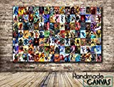Superheroes Comic Book Box Framed Canvas Art Print