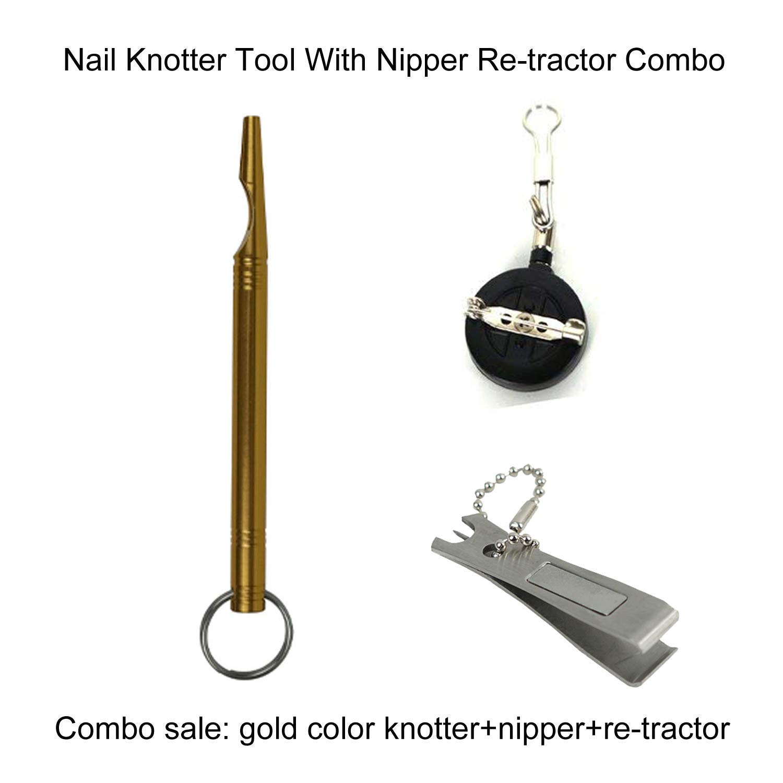 Aventik CNC-gefr/ästes Nagelknoten-Werkzeug eines der besten Angelzubeh/ör mit Zange und Re-Tractor Combo einfaches Knotenbindewerkzeug