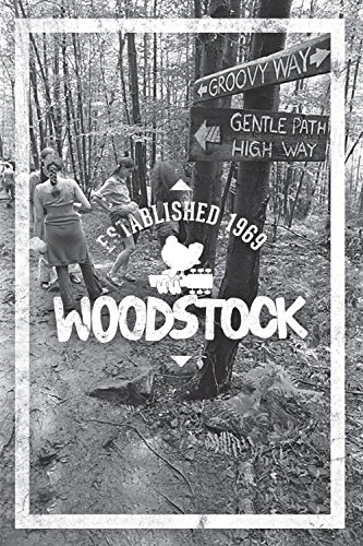 Woodstock Lined Journal Groovy Way (Quiet Fox Designs) Lined Journaling Pages with Inspiring Quotations, Memorable Photographs, and Iconic Illustrations; Celebrate Woodstock's 50th Anniversary