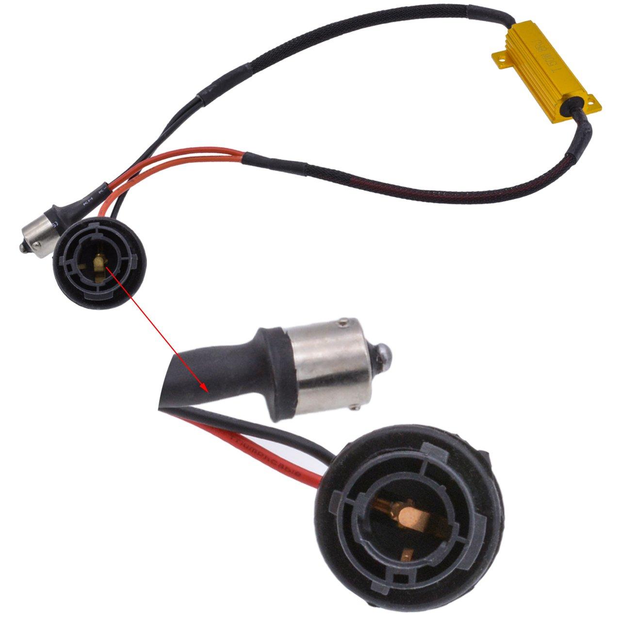 KaTur 2/50/W 8/Ohm-9006/9005/Lastwiderstand Anschluss Auto LED Blinker Leuchtmittel Nebelscheinwerfer Tagfahrlicht Fehlerfrei cancellor Kondensator Decoder Draht