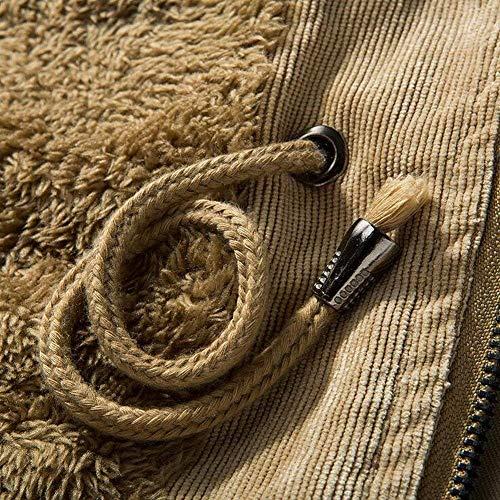 In In In Giacca Da Casual Militare In In In In Cappuccio Interno Khaki Velluto Con Giacca Giacca Da Casual Cappotto Uomo Antivento Esterno HaiDean Calda Plus Cotone Invernale Moderna 6X81T6q5