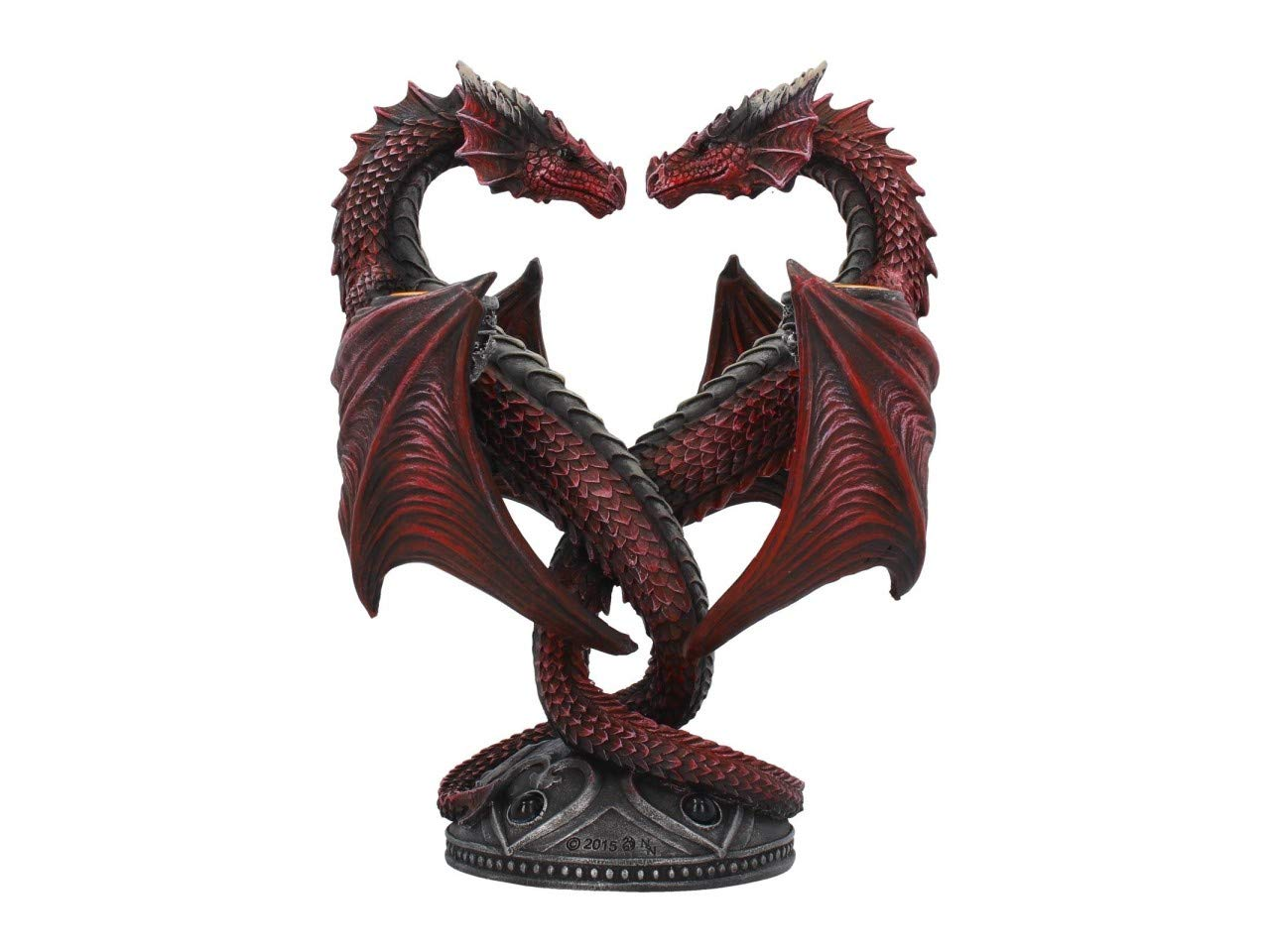 ANNE STOKES Dragon Heart Valentine - Special Edition Candle Holder in Red 23 cm Nemesis Now .