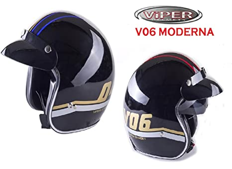 Amazon.es: Cascos Moto-VIPER V06 MODERNA Nuevo Casco Jet ...