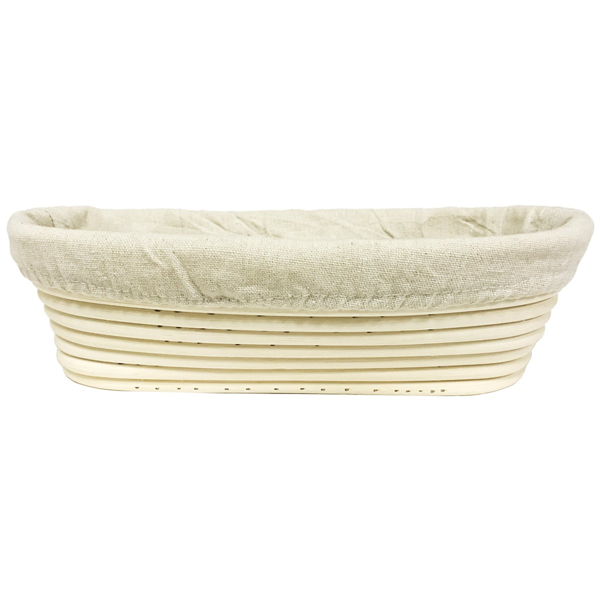 Agile-shop Oval Long Banneton Brotform Bread Dough Proofing Rising Rattan Handmade Basket & Liner (11)