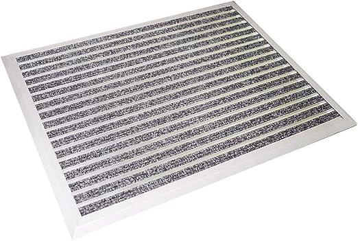 YANGJUN-Felpudo Alfombra Entrada De Casa Pesado Aleación De Aluminio Puerta Sala Escalera Antideslizante Hidrofóbico Eliminación del Polvo, 5 Colores (Color : E, Size : 80x60cm): Amazon.es: Hogar