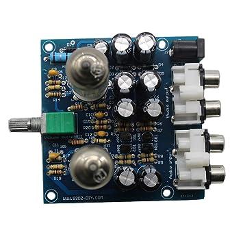 Amazon com: DDIY Valve Preamp Buffer Tube Amplifiers Audio