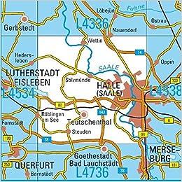 Halle Saale Karte.L4536 Halle Saale Topographische Karte 1 50000 Dtk50