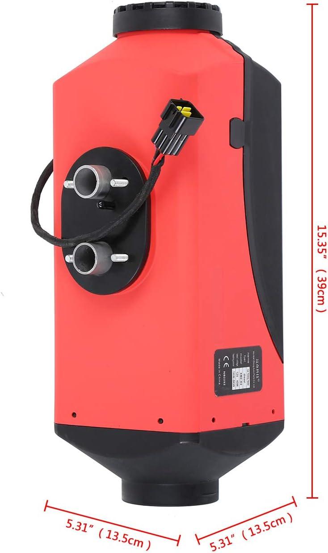 Ambienceo 12 V 5 KW Air Diesel riscaldatore parcheggio riscaldamento aria interruttore LCD termostato W//silenziatore