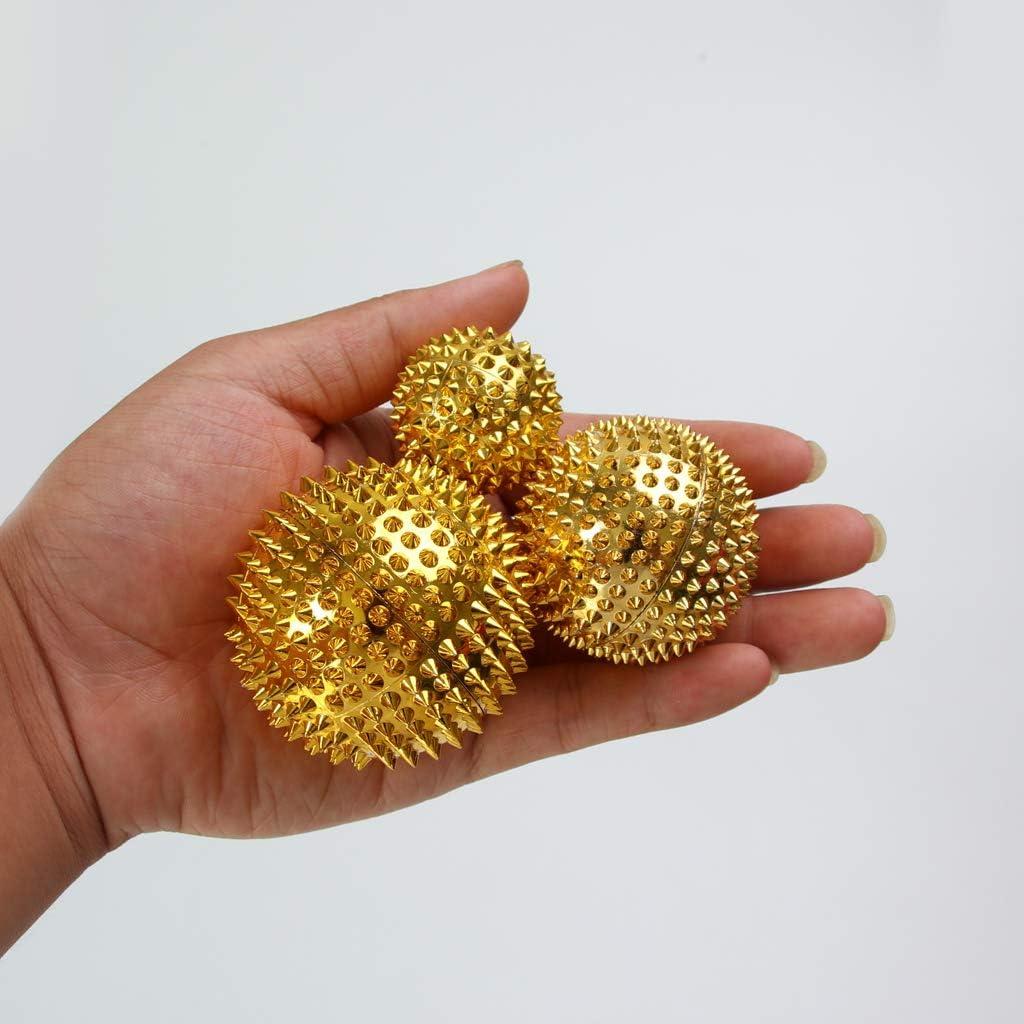 Baoblaze 3 St/ück magnetische Akupressurkugeln Massagekugeln zur Stimulation