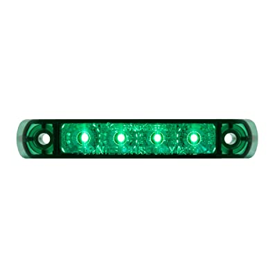 GG Grand General 76086 4 Inch Surface Mount Green 4 Led Light Bar, 3 Wires: Automotive