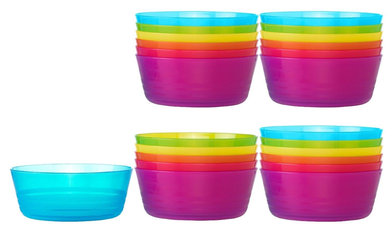 Ikea Kalas 301.929.60 BPA-Free Bowl, Assorted Colors, Set of 2, 6-Pack 301.929.60X2