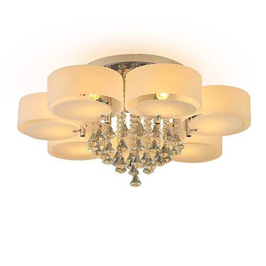 7 lights ceiling light chandeliers modern contemporary crystal 7 lights ceiling light chandeliers modern contemporary crystal ceiling lamp flush mount home pendant aloadofball Image collections