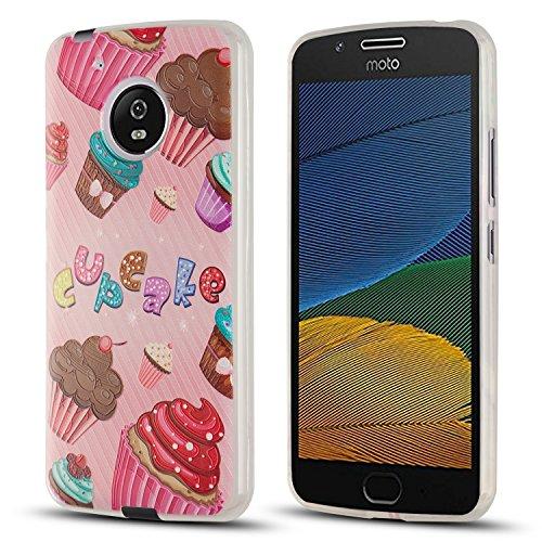 J&D Case Compatible for Moto G5 Case, [Drop Protection] [Slim Cushion] Shock Resistant Protective TPU Slim Case for Motorola Moto G5 (5.0) Bumper Case - [NOT for Moto G5 Plus/Moto G5S/Moto G5S Plus]