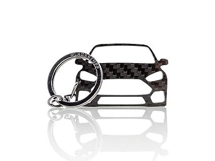 BlackStuff Llavero De Fibra De Carbono Cadena De Claves Compatible con Focus RS MK3 2011-2018 BS-183