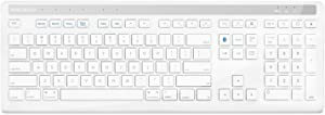 Macally Quick Switch Bluetooth Keyboard for Mac, iPad, iPhone, PC, Tablets and Smartphones (BTKEYPRO)
