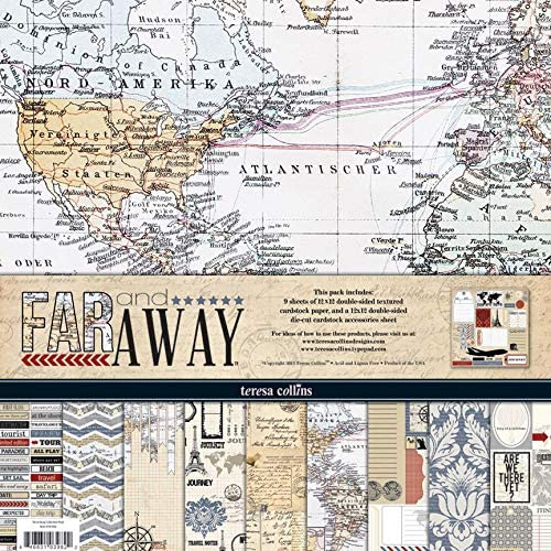 Teresa Collins - Scrapbooking Paper 12 x 12 (Pack de Papeles 30,5 x 30,5 cm) - Far and Away: Amazon.es: Hogar