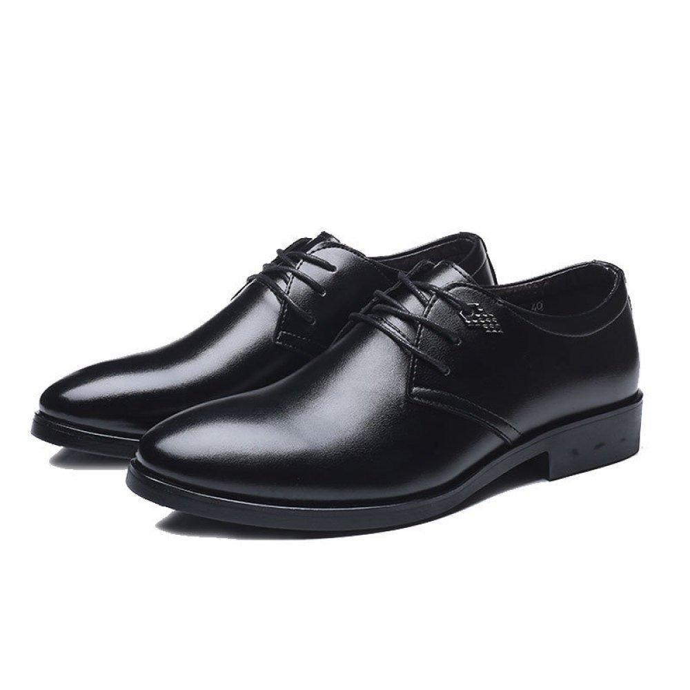 YXLONG Verano De Negocios Zapatos Casuales Nuevo Ocio Transpirable Con Cordones Zapatos,8851ShoesBlack-38 38 8851ShoesBlack