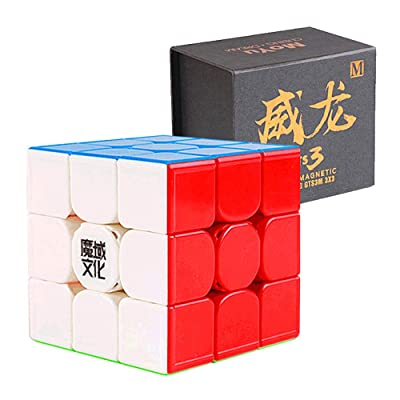 CuberSpeed MoYu WeiLong GTS3 M 3x3 stickerless Speed Cube Magnetic MoYu WeiLong GTS V3 M Color 3x3x3 Speed Cube Puzzle: Toys & Games
