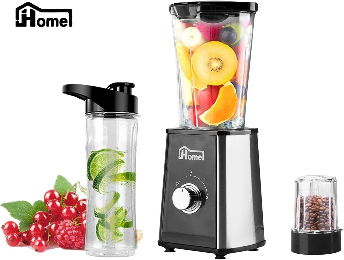 JHome Personal Blender Smoothies Maker Vegetable Fruit Juice With 20oz Portable Sport Bottle, Mini Coffee Bean Grinder