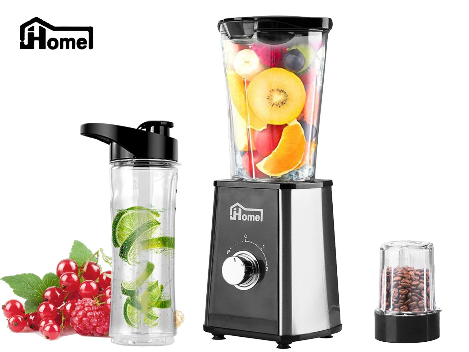 JHome Personal Blender Smoothies Maker Vegetable Fruit Juice With 20oz Portable Sport Bottle, Mini Coffee Bean Grinder by Joeoy