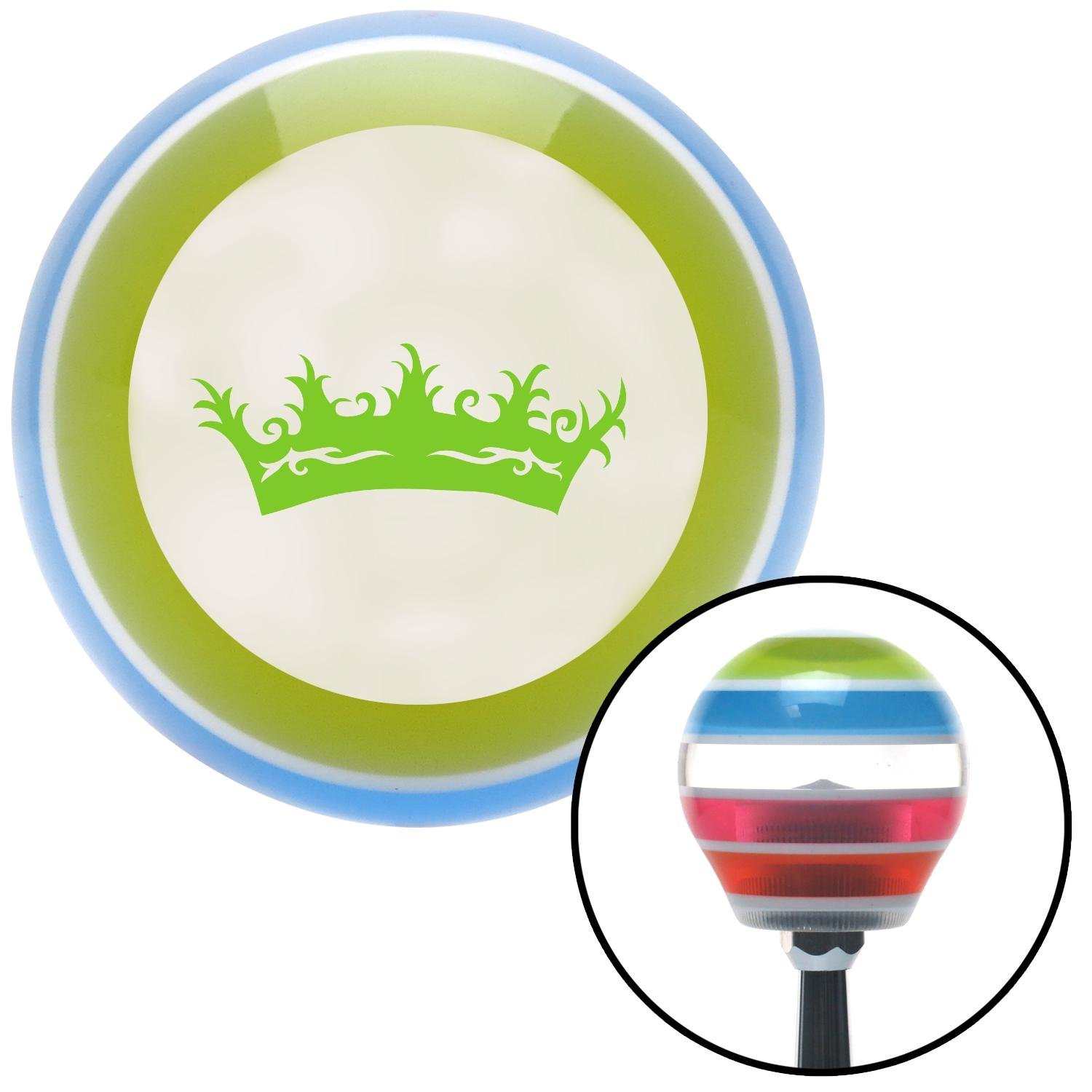 Green Prince Crown American Shifter 132157 Stripe Shift Knob with M16 x 1.5 Insert