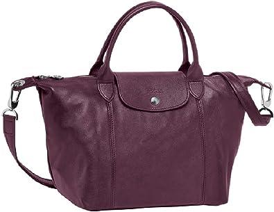 LONGCHAMP Le Pliage Cuir Small Leather Top Shoulder Bag Tote ...