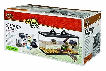 .com : zilla kit aquatic turtle starter 40b : pet supplies