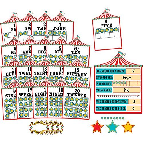 Teacher Created Resources Carnival Numbers 0-20 Bulletin Board (6 Panels) (5710)