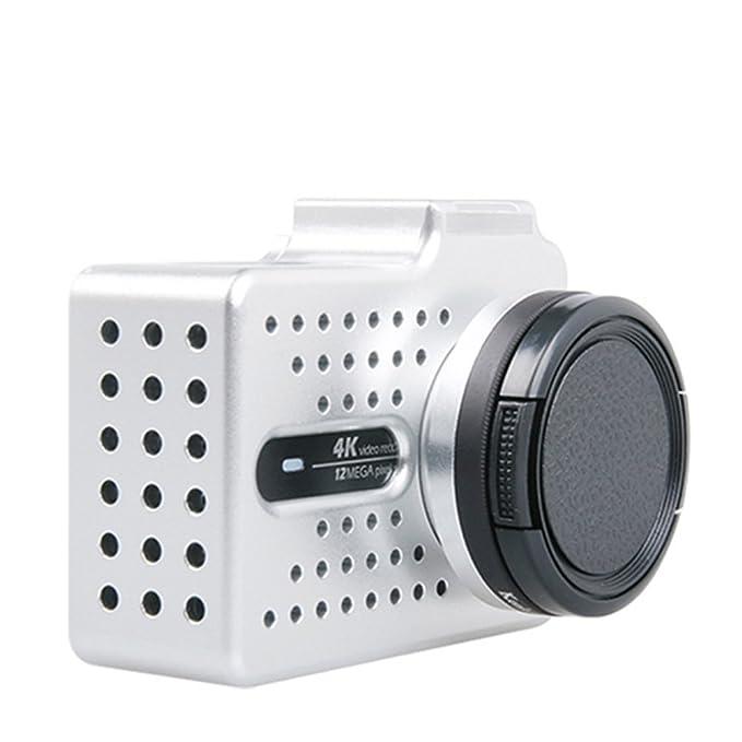 Carcasa para cámaras de acción Xiaomi Yi 4k Xiao Yi 2 con accesorios y filtro de UV, color plateado