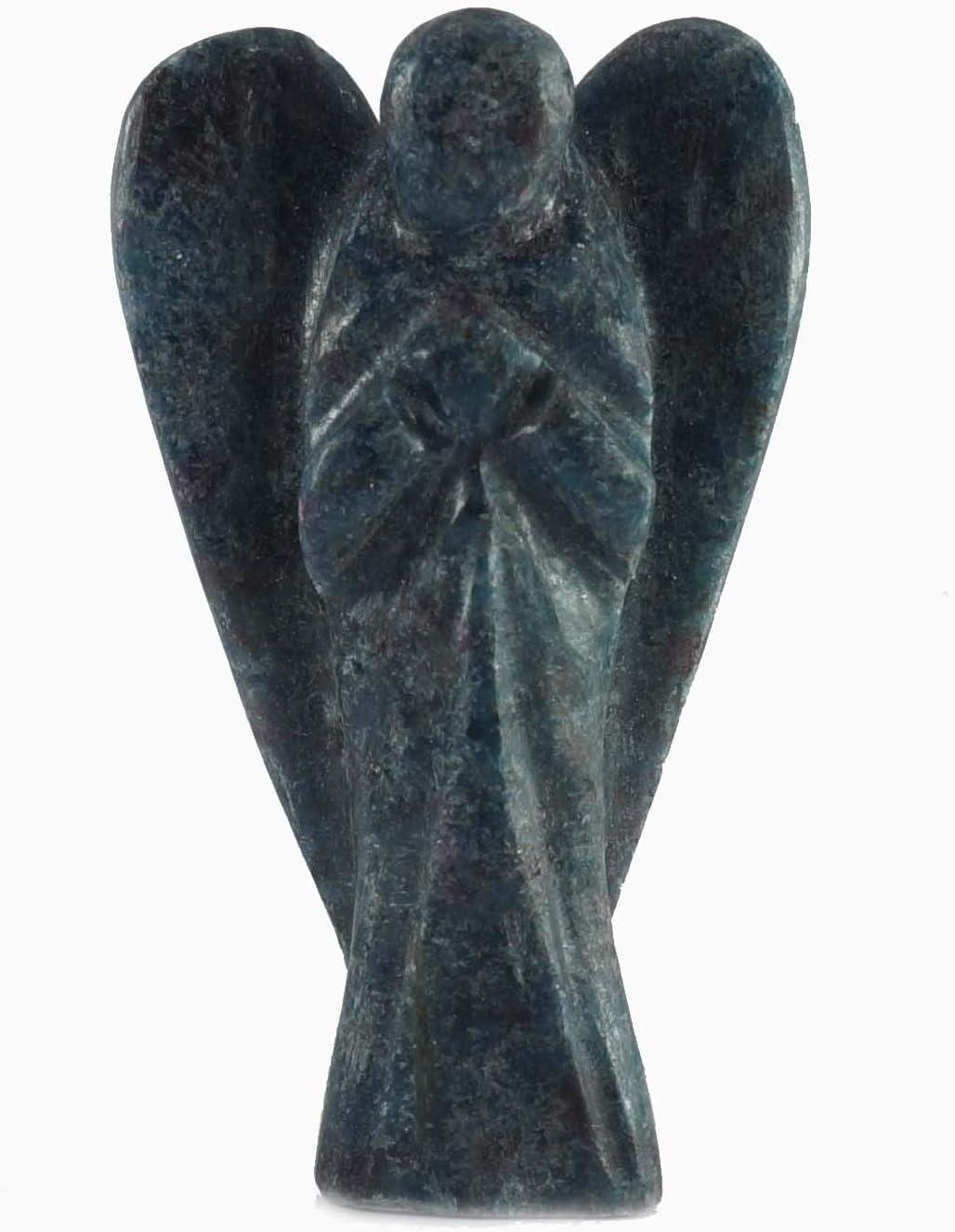 Ruby Fuschite Orgone Crystal Angel Reiki Healing Stone Statue Guardian Chakra