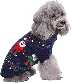 CHIYEEE Suéter de Navidad para Perro Disfraz para Víspera de Todos ...