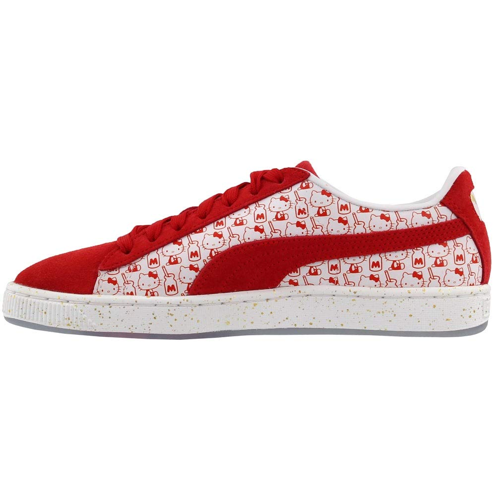 5591a750f Amazon.com | PUMA Suede Classic X Hello Kitty Womens Red Suede Sneakers  Shoes | Tennis & Racquet Sports