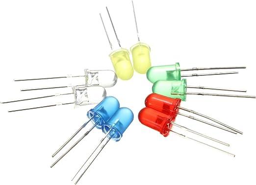 Lot de 100 diodes /électroluminescentes infrarouges LED Diam/ètre 5 mm 940 nm