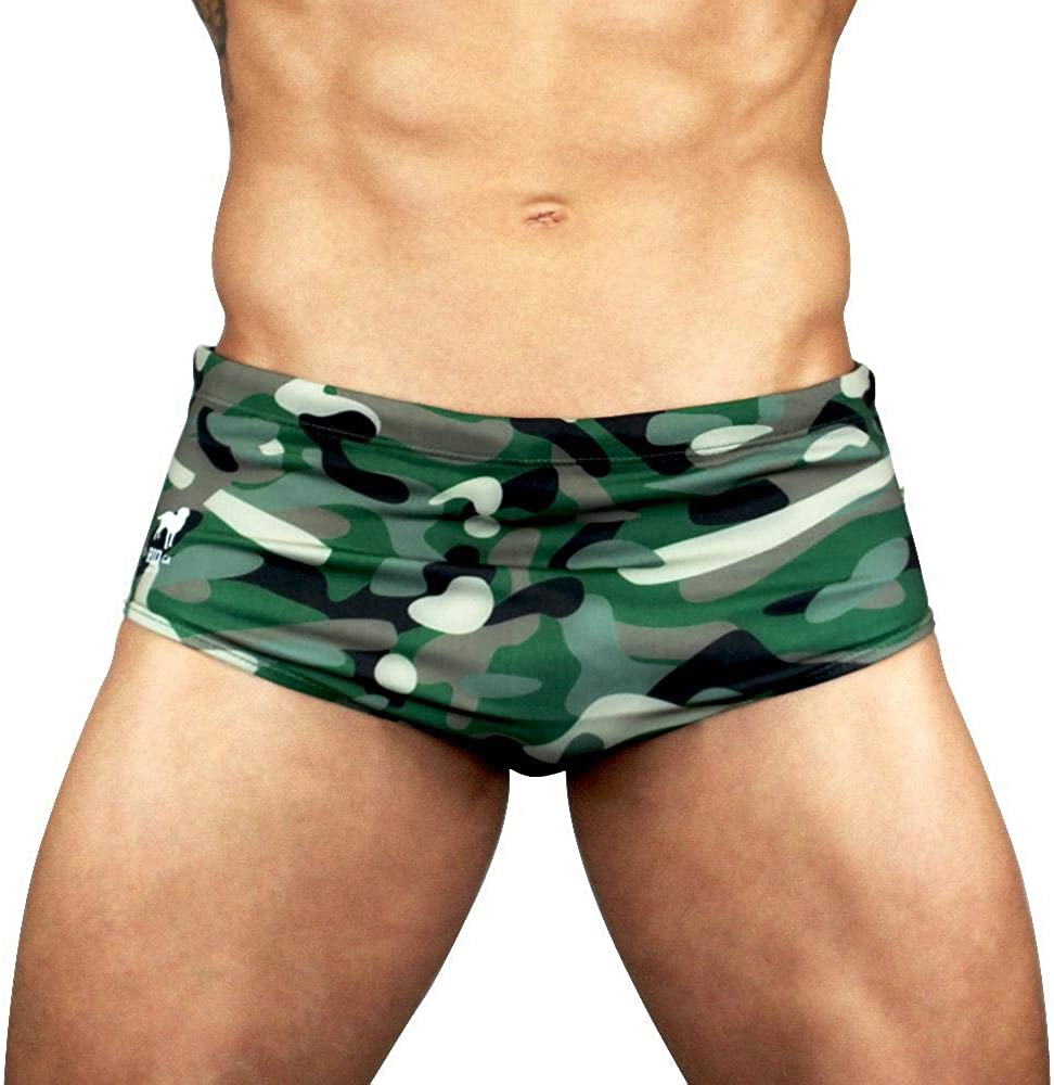 Men Swimsuit Digital Camo Custom Options Bikini Brief Rio USA