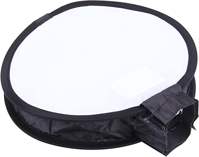 CAOMING 30cm Universal Round Style Flash Folding Soft Box Black + White Durable Without Flash Light Holder