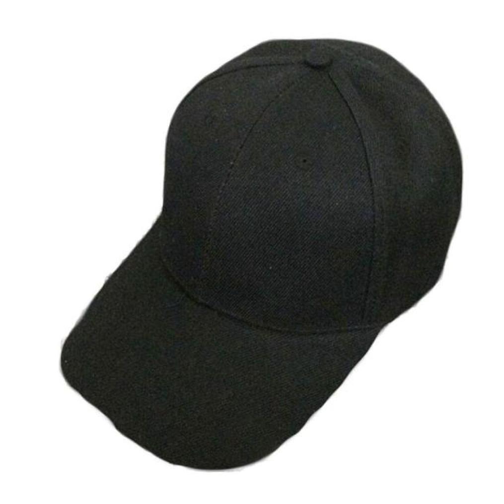 Laimeng_World Summer Fashion Sport Baseball Caps for Women Men Cotton Sun Protection Cap (Black)