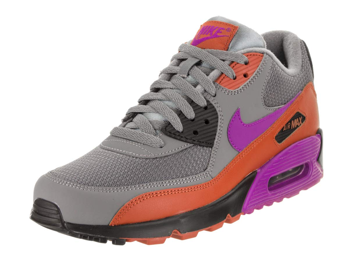 huge selection of 7bf29 8a028 Galleon - Nike Mens Air Max 90 Essential Running Shoes Cool Grey Vivid  Purple Dark Russet Black AJ1285-013 Size 8.5