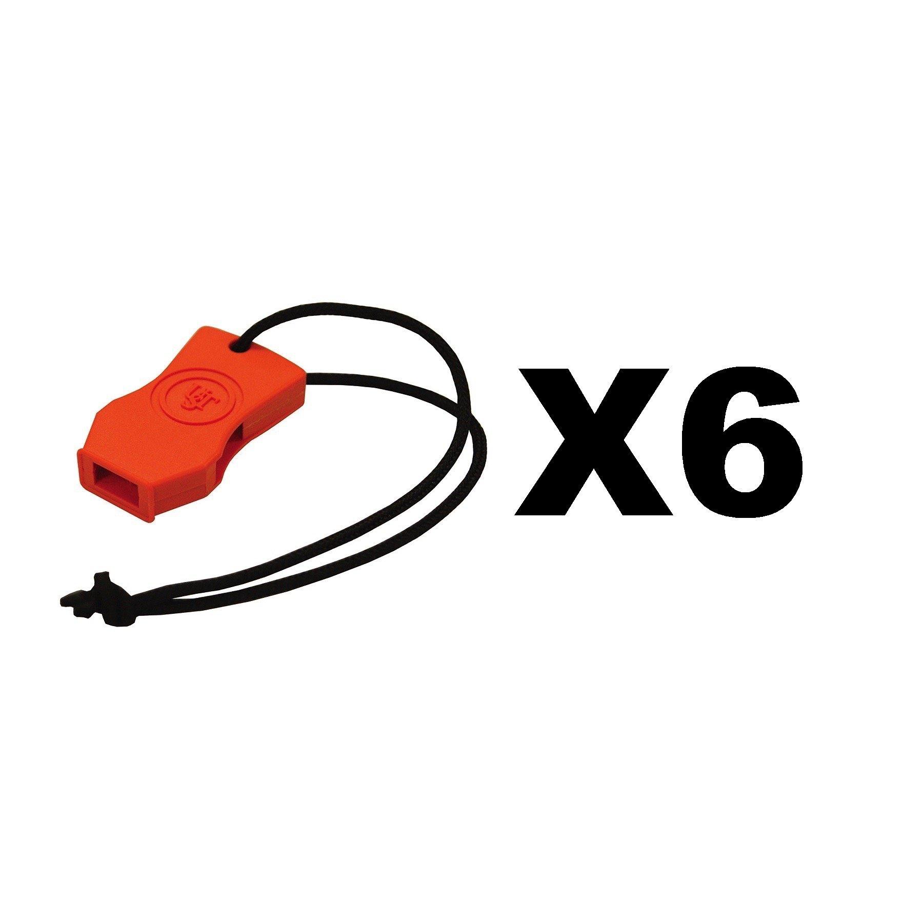 Ultimate Survival Technologies JetScream Micro Whistle Orange Signal (6-Pack)