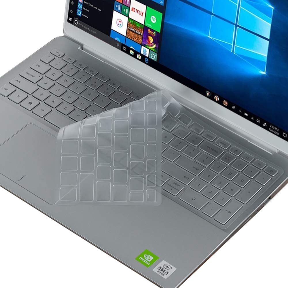 FORITO Ultra Thin Keyboard Cover Compatible with 2020 2019 New Dell Insprion 15 5584 7590 7591 i7590 i7591 15.6