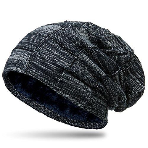 CASPAR MU135 Bonnet Beanie motif quadrillage doublé imitation fourrure From  CASPAR Fashion 126a6207ef