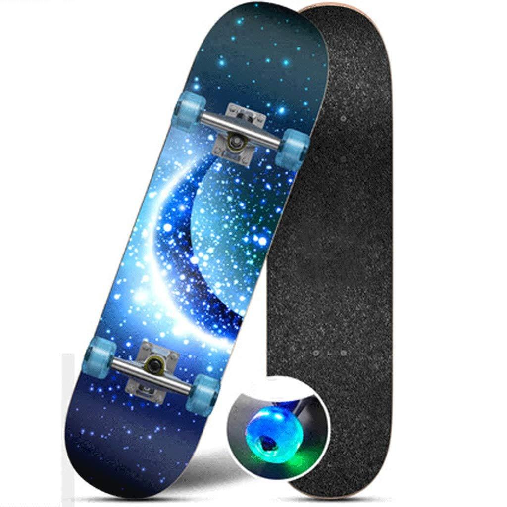 スーパーセール期間限定 四輪のスケートボードの子供と青年初心者のストリートスキルプロフェッショナル男性の大人の女の子双方向の傾斜ボード道路スケートボード (色 Moonlight : Moonlight) (色 Moonlight) B07L4NDGBL Moonlight, かわいい!:2e301270 --- a0267596.xsph.ru