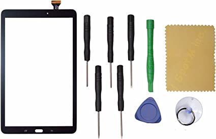 """Samsung Galaxy Tab 4 NOOK 7/"""" Touch Glass Digitizer Black with adhesive"""
