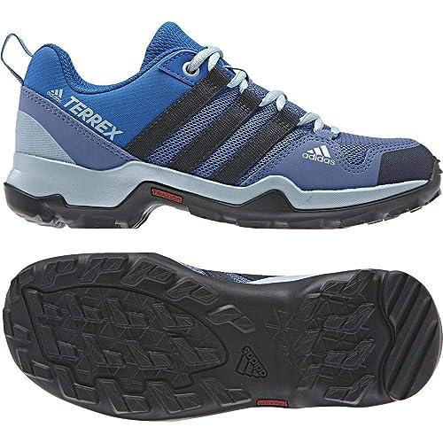 online store f2e9d 1ad49 Adidas Terrex Ax2r K, Chaussures de Randonnée Basses Mixte Enfant, Bleu  (Azretr
