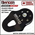 Ranger Commercial Reliability Snatch Block with Grease Fitting by Ultranger (10 Tons 22,000 LBs)
