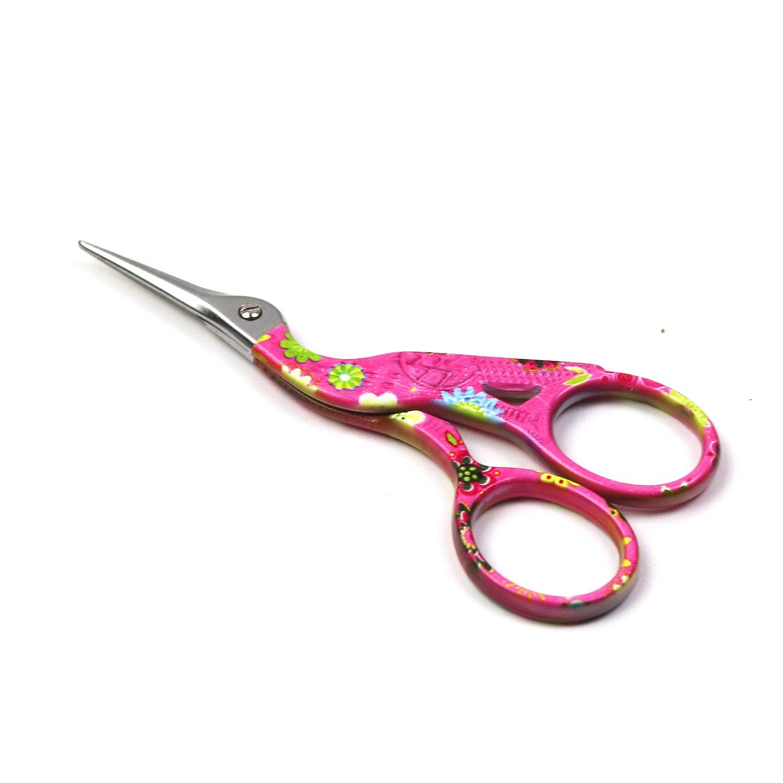D& D acciaio INOX Sharp punta Classic Stork Scissors Crane design cucito forbici strumenti fai da te per ricamo, ago Mestiere, lavoro, lavori artistici e uso quotidiano small Yellow