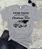Country Farm Fresh Christmas Trees T-Shirt / Adult T-shirt Top Tee design - Ink Printed