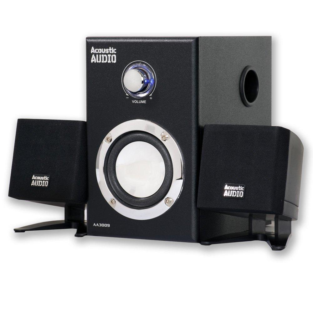 Acoustic Audio AA3009 200 Watt 2.1 Powered Sub Home Computer Speaker System [並行輸入品]   B06ZYH25Q3
