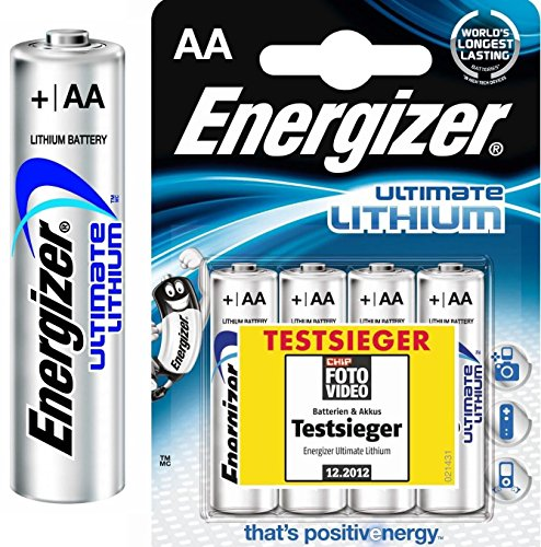 40Energizer L91–Ultimate Lithium 1.5V AA Batteries 3000mAh)