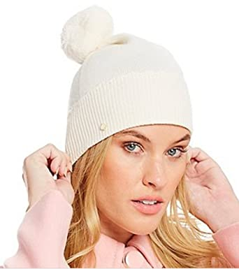 Amazon.com  Kate Spade New York Scalloped Merino Wool Beanie with ... 04e7f28d67b