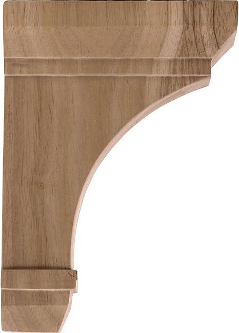 , Red Oak Ekena Millwork BKT02X06X10STRO-CASE-2 2 1//4 inch W x 6 inch D x 10 inch H Stockport Bracket 2-Pack